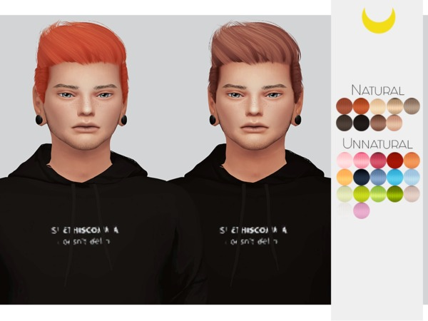 Sims 4 Hair Retexture Male 02 Stealthics Like Lust by Kalewa a at TSR