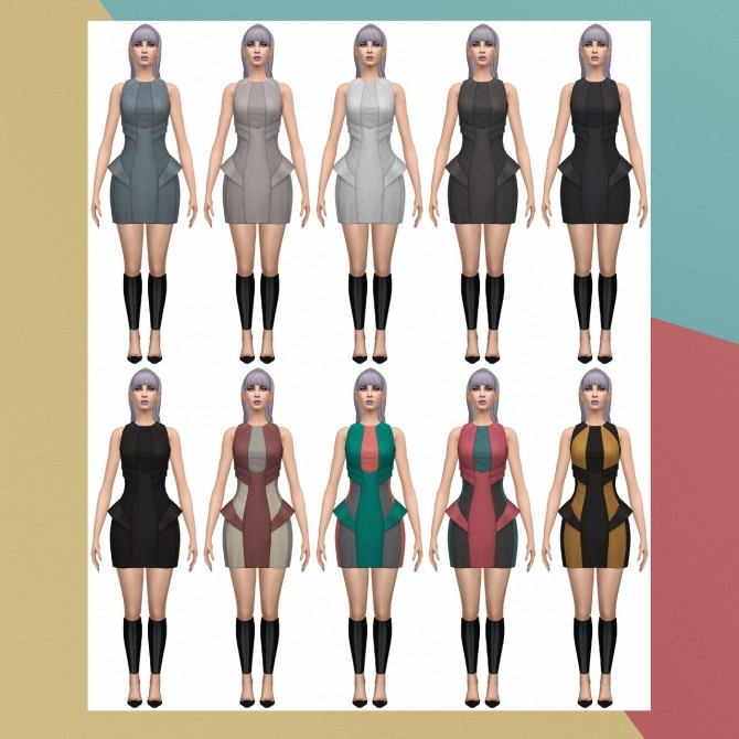 Into the Future Day Dress S3 Conversion at Busted Pixels image 2101 670x670 Sims 4 Updates