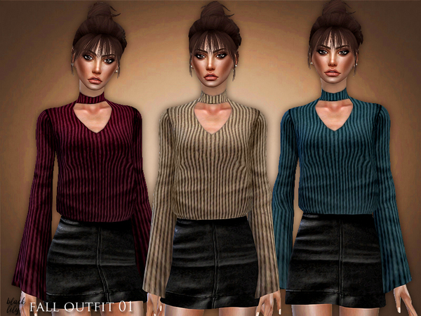 Sims 4 Fall Outfit 01 by Black Lily at TSR