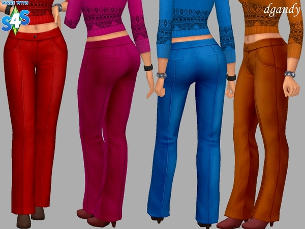 Sims 4 Allyson pants by dgandy at TSR