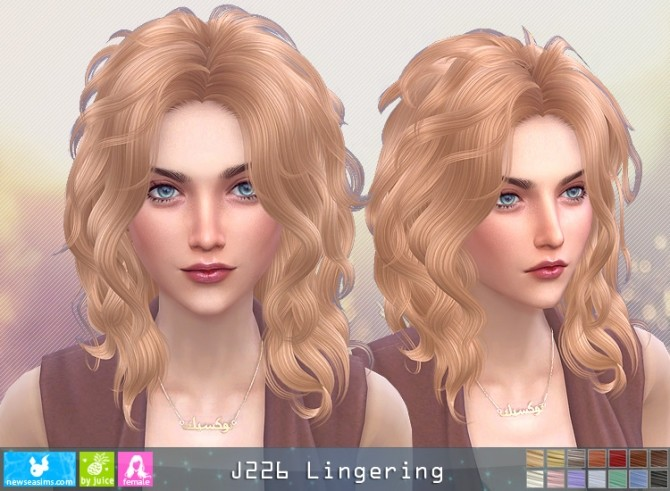 J226 Lingering hairstyle (P) at Newsea Sims 4 image 2142 670x491 Sims 4 Updates