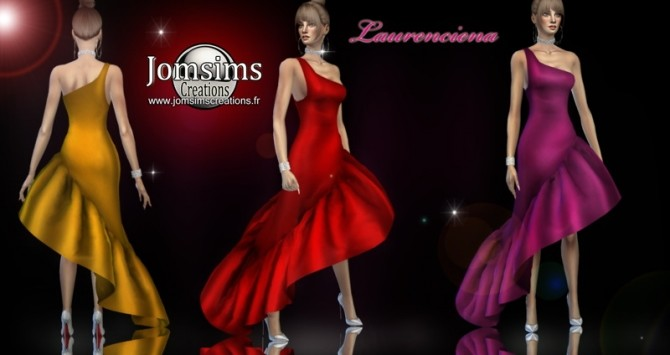 Laurenciena evening dress at Jomsims Creations image 2152 670x355 Sims 4 Updates