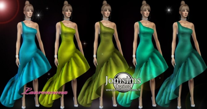 Laurenciena evening dress at Jomsims Creations image 2162 670x355 Sims 4 Updates