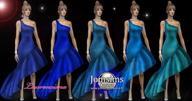 Laurenciena evening dress at Jomsims Creations image 2172 670x355 Sims 4 Updates