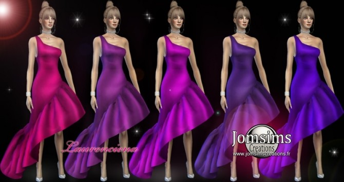 Laurenciena evening dress at Jomsims Creations image 2181 670x355 Sims 4 Updates