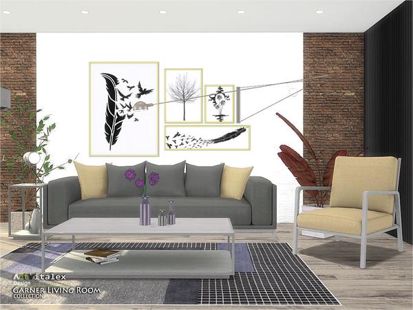 Sims 4 Garner Living Room by ArtVitalex at TSR