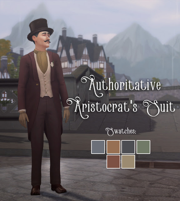 Authoritative Aristocrats Suit at Historical Sims Life image 2222 Sims 4 Updates