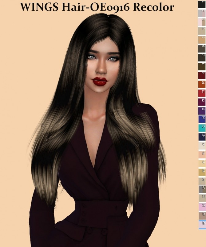 Wings hair OE0916 Recolor at Teenageeaglerunner image 2232 670x803 Sims 4 Updates