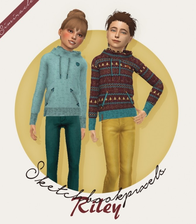 Sims 4 Sketchbookpixels Riley 3T4 shirt for kids at Simiracle