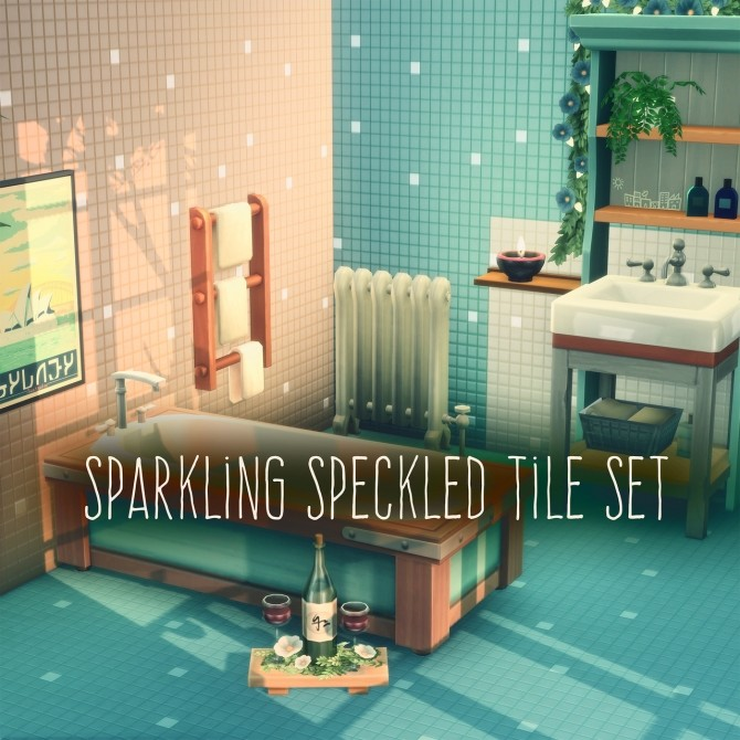 SPARKLING SPECKLED TILE SET at Picture Amoebae image 2252 670x670 Sims 4 Updates