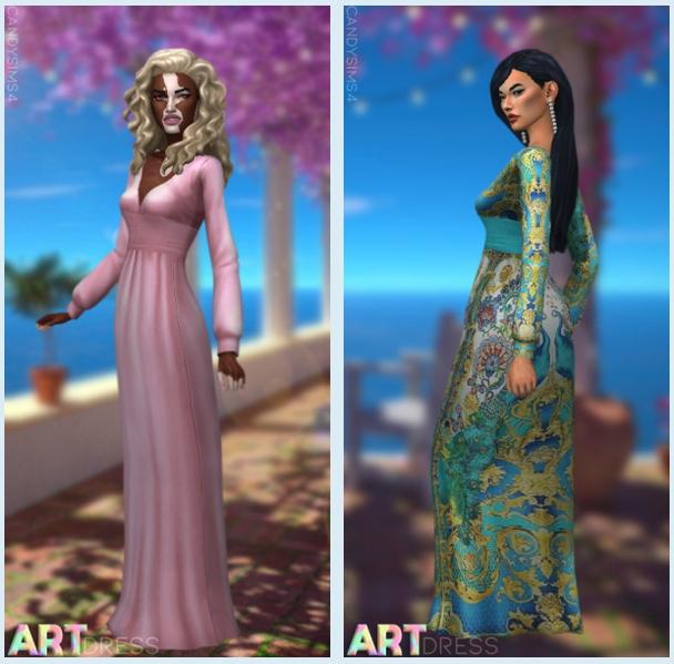 Sims 4 Art dress at Candy Sims 4