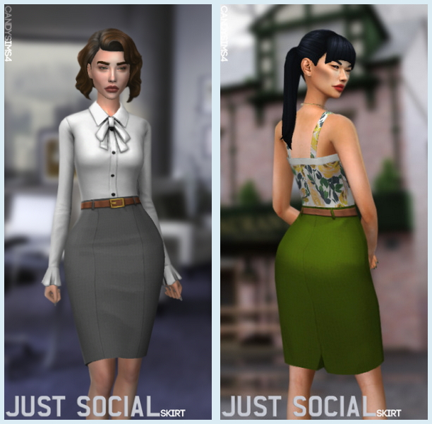 JUST SOCIAL SKIRT at Candy Sims 4 image 2271 Sims 4 Updates
