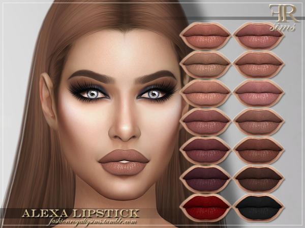 Sims 4 FRS Alexa Lipstick by FashionRoyaltySims at TSR