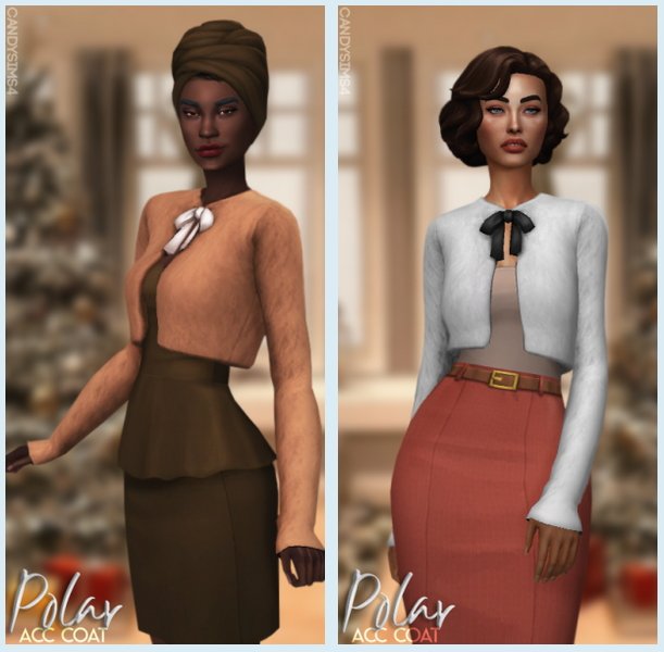 POLAR ACC COAT at Candy Sims 4 image 2321 Sims 4 Updates