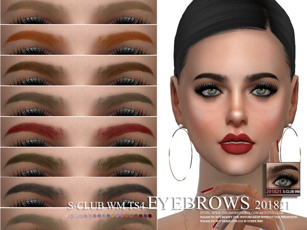 Eyebrows 201821 by S Club WM at TSR image 235 Sims 4 Updates