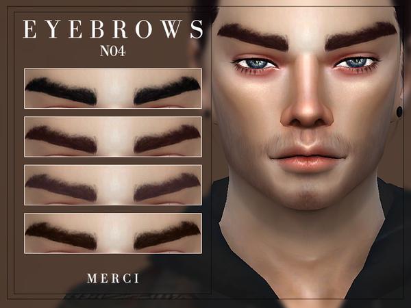 Sims 4 Eyebrows N04 by Merci at TSR