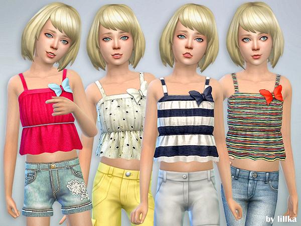 Sims 4 Ruffle Cami Top by lillka at TSR