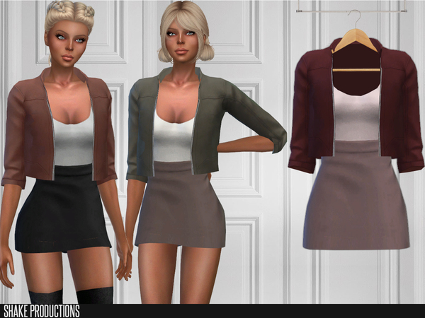 Sims 4 196 Dress with Jacket by ShakeProductions at TSR