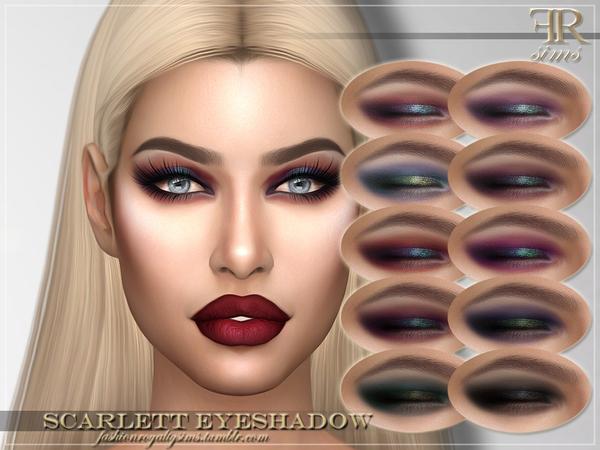 Sims 4 FRS Scarlett Eyeshadow by FashionRoyaltySims at TSR