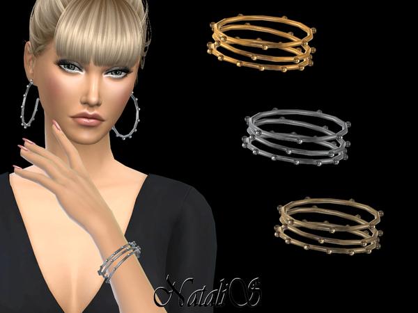 Multi balls hoop bracelets by NataliS at TSR image 247 Sims 4 Updates