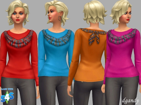 Sims 4 Betty top by dgandy at TSR