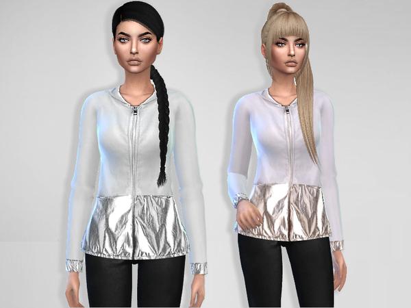 Sims 4 Metallic Jacket by Puresim at TSR