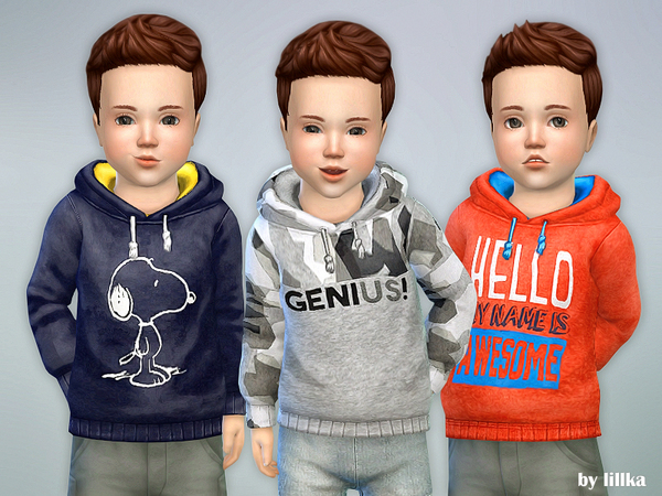 Sims 4 Hoodie for Toddler Boys P06 by lillka at TSR