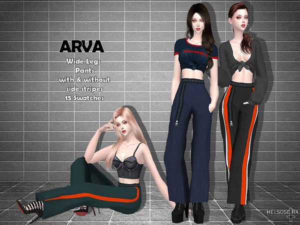 ARVA Wide Leg Pants by Helsoseira at TSR image 26 Sims 4 Updates