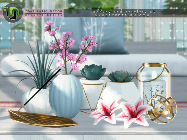 Sims 4 Zone Patio Decor by NynaeveDesign at TSR