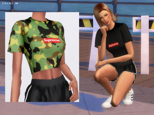 Sport Tops by ChloeMMM at TSR image 276 Sims 4 Updates