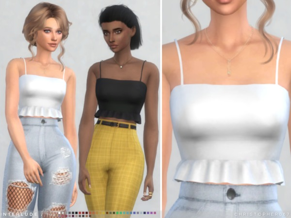 Sims 4 Interlude Top by Christopher067 at TSR