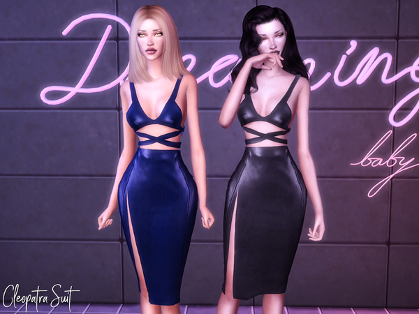 Sims 4 Cleopatra Suit by Genius666 at TSR