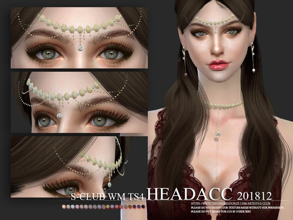 Sims 4 Headacc F 201812 by S Club WM at TSR