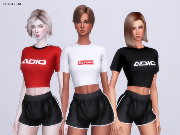 Sport Tops by ChloeMMM at TSR image 286 Sims 4 Updates