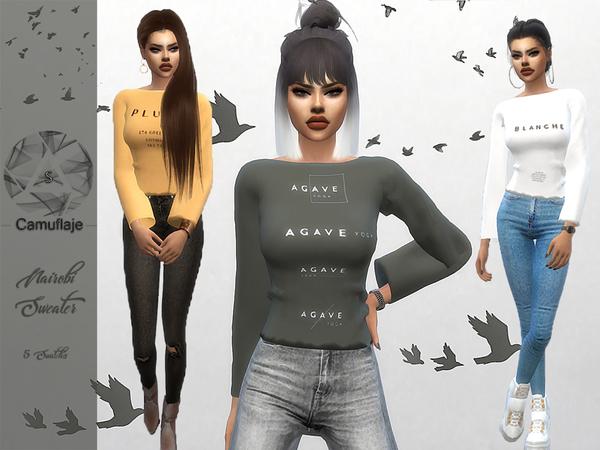 Sims 4 Nairobi Sweater by Camuflaje at TSR
