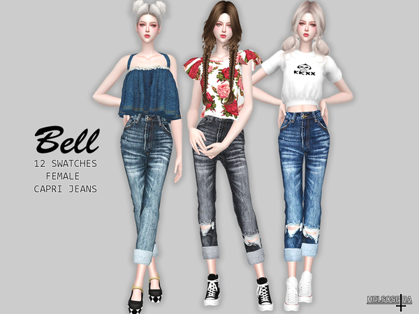 BELL Capri Jeans by Helsoseira at TSR image 2912 Sims 4 Updates