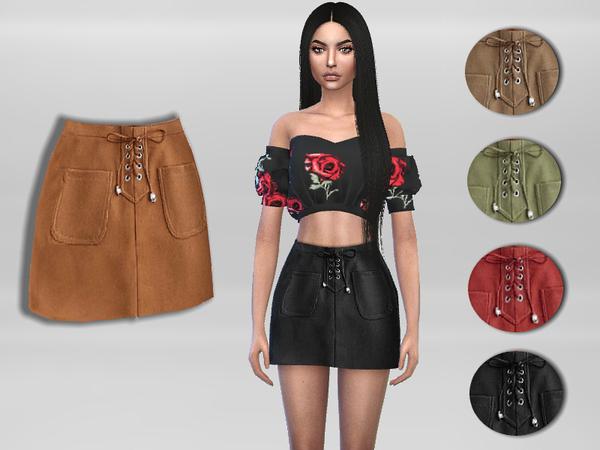 Sims 4 Mini Skirt by Puresim at TSR