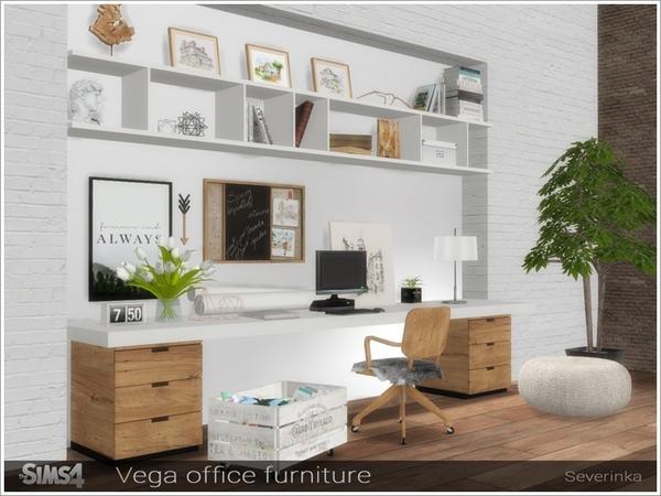 Sims 4 Vega office furniture by Severinka at TSR