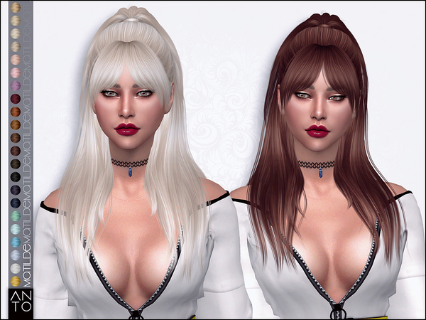 Matilde Hair by Anto at TSR image 30 Sims 4 Updates