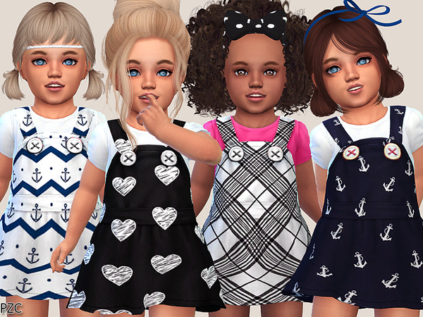 Sims 4 Cute Toddler Dresses Collection by Pinkzombiecupcakes at TSR