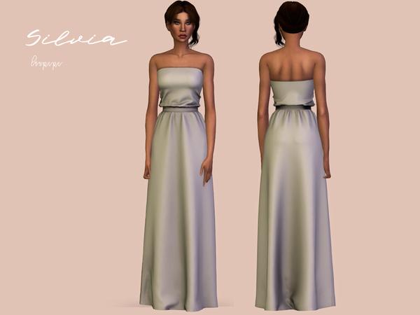 Sims 4 Silvia dress by laupipi at TSR