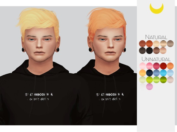 Sims 4 Hair Retexture Male 04 Stealthics Wavves by Kalewa a at TSR
