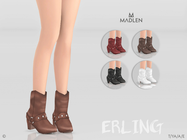 Sims 4 Madlen Erling Boots by MJ95 at TSR