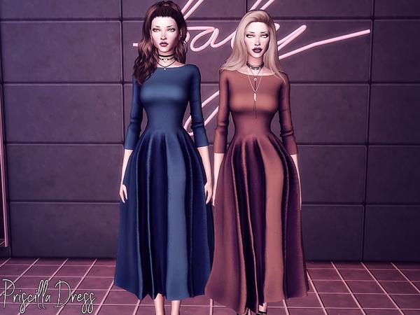 Sims 4 Priscilla Dress by Genius666 at TSR