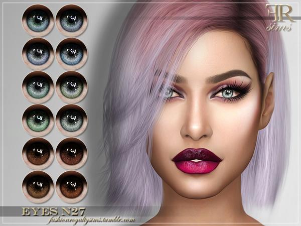 Sims 4 FRS Eyes N27 by FashionRoyaltySims at TSR