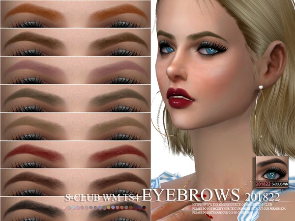 Sims 4 Eyebrows 201822 by S Club WM at TSR