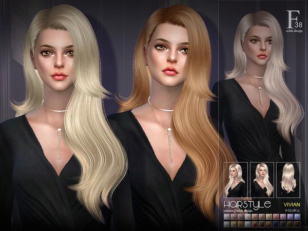 Vivian hair n38 by S Club at TSR image 341 Sims 4 Updates