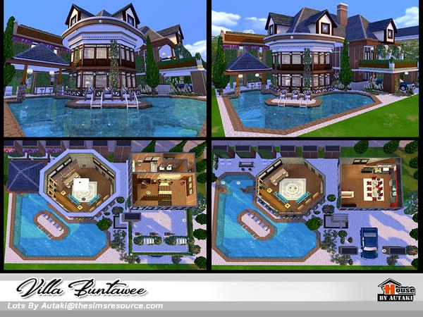 Sims 4 Villa Buntawee by autaki at TSR