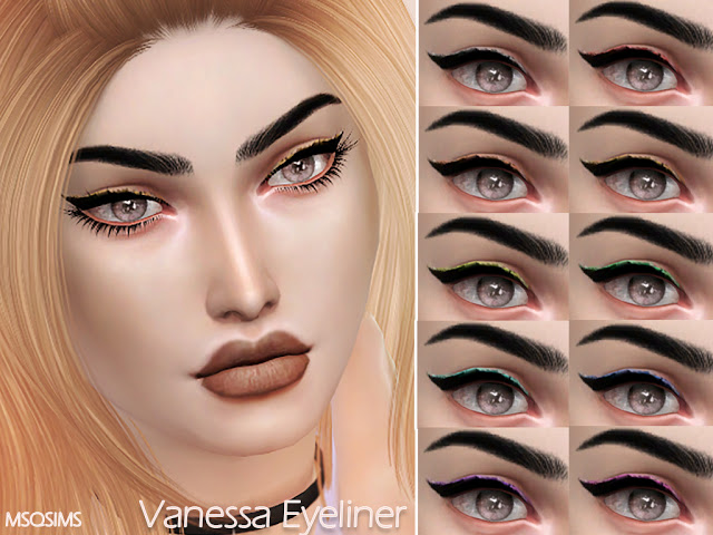Vanessa Eyeliner at MSQ Sims image 3422 Sims 4 Updates