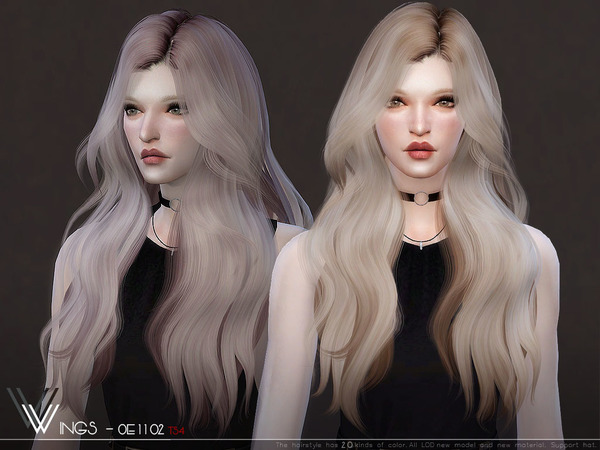 WINGS OE1102 hair by wingssims at TSR image 362 Sims 4 Updates